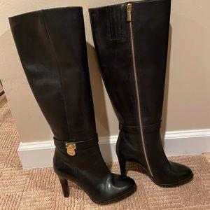 Michael Kors black leather boots like new